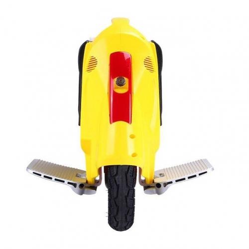 Желтое моноколесо Kingsong 14C вид спереди